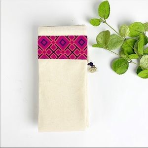 Tory Burch Canvas Dust Bag Pink Purple 17 X 27 New